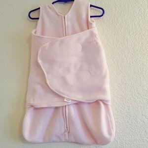 Newborn Girls Pink Sleep/Swaddle Sack/Blanket NWOT